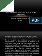 SISTEMA DE SEGURIDAD SOCIAL INTEGRAL