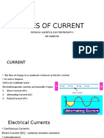 TYPES OF CURRENT