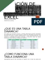 Creación de Tablas Dinámicas en Excel
