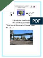 """Análisis del Escenario Natural en el I.T.E.S.Z."" Oficial"