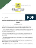Decreto Santa Sede Semana Santa 2020