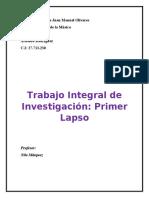 Trabajo Integral de Investigación- Primer Lapso-2do Año Historia de la Música.Arnaldo Rodríguez