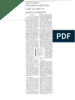 Executivos valorizam cada vez mais os ganhos intangíveis - Oct2002 - Gazeta Mercantil