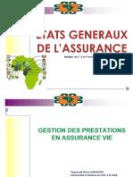 Communication_1_Geston des prestations en assurance Vie_Secrétariat Général CIMA
