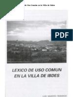 Léxico de uso común en la villa de Ibdes
