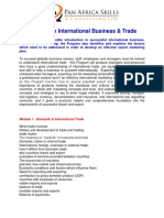 International Business and Trade Course Contents
