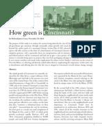 How Green is Cincinnati?