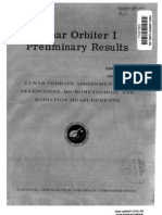 Lunar Orbiter 1, Preliminary Results - Lunar Terrain Assessment and Selenodesy Micro Meteoroid, And Radiation Measurements