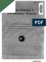 Lunar Orbiter 1, Preliminary Results - Lunar Terrain Assessment and Selenodesy Micro Meteoroid, And Radiation Measurements