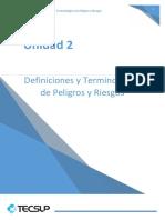 Definiciones y Términos de Peligros y Riesgos
