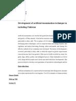 Development of artificial insemination technique in world including Pakistan. 2