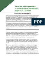 ARTICULACIÓN  CONCEPTO DE ETNOEDUCACIÓN