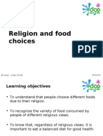 Religion and food choices.ppt