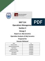 Mgt 314 report Final
