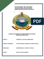 ORIGEN DE LA POLICÍA COMUNITARIA