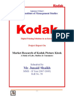Market Research of Kodak Picture Kiosk - A study of labs, studios & consumers.