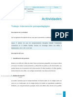 Trabajo DE INTERVENCION PSICOPEDAGOGICA