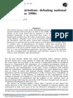 Silvana Patriarca - Italian Neopatriotism - Debating National Identity in the 1990s