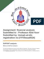 Dupont analysis assignment.docx