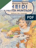 JOHANNA SPYRI - HEIDI, FETITA MUNTILOR - PARTEA 1