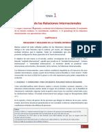 01.-03. La Teoría de las Relaciones Internacionales