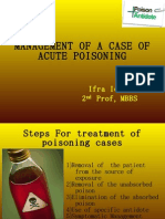 Management of a Case of Acute Poisoning