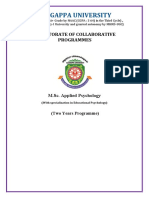 M.Sc Applied Psychology( Educational Psychology)