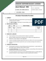 13. Procedure - Preservation