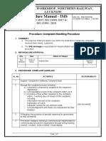 16. Procedure - Complaint Handling.doc