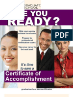Government Training Certificate Programs Brochure