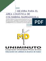 PLAN DE MEJORA PARA EL AREA LOGÍSTICA DE COLOMBINA BARRANQUILA FINAL