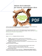 Principios básicos de la atención informada por trauma