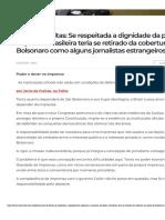 Janio de Freitas. Poder e dever na imprensa - posse de Bolsonaro