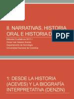 Narrativas, historia oral y de vida
