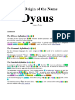 The Origin of the Name Dyaus