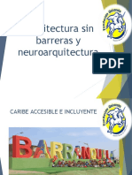 ARQUITECTURA SIN BARRERAS Y NEUROARQUITECTURA UNINORTE def