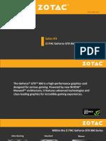ZOTAC GeForce GTX 960 Sales Kit 1.3
