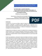 Conferencia sobre el libro verde sobre la cohesión territorial