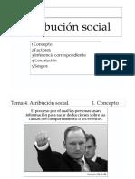 Tema 4 Atribución social