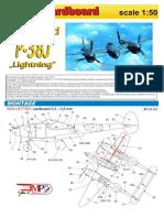 _Model Cardboard - Lockheed P-38J