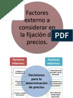 factores a considerar en la fijacion de precios