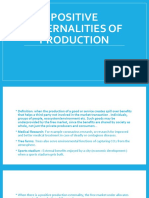 Positive Externalities of production and consumption