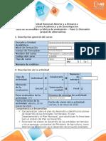 Guia de actividades y rubrica de evaluación- Paso 3- Discusión grupal de alternativas