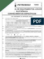 PROVA 12 - ENGENHEIRO DE EQUIPAMENTOS JÚNIOR - ELETRÔNICA