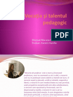 Vocaţia şi talentul pedagogic