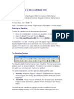 Equations Editor 2003