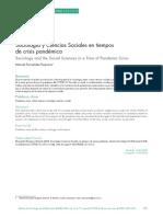 Fernández Esquinas - Sociología y CCSS en tiempos de crisis pandémica