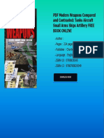 PDF Modern Weapons Compared and Contrasted Tanks Aircraft Small Arms Ships Artillery FREE BOOK  (1)