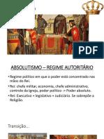 Absolutismo - Formação do Estado