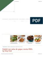 Falafel con salsa de yogur, receta FÁCIL (y muy rica) | PequeRecetas